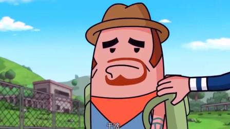 搞笑吃鸡动画霸哥用新道具飞高高居然不会用这下香肠小队被解决