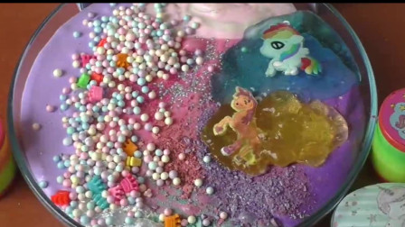 蛋糕水晶泥加球球水晶泥化妆品小装饰,制作史莱姆无硼砂
