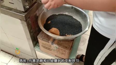 常吃的黑芝麻粉在农贸市场加工最实惠