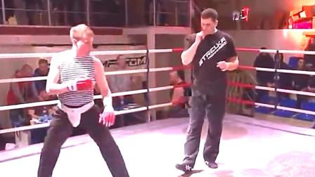 小伙练几天截拳道就以为自己是李小龙了,挑战MMA选手,惨遭暴打
