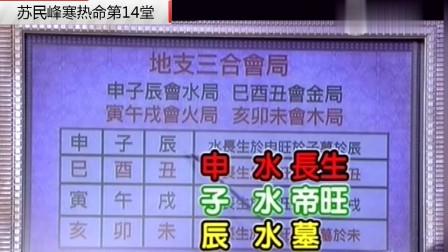 有玄人改运:苏民峰寒热命八字班14堂三合会局与三合会方在八字中的应用
