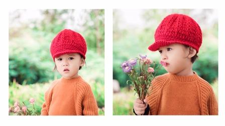 儿童贝雷帽毛线编织帽子视频教程用毛线钩织
