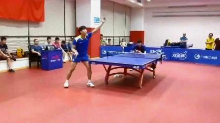 乒乓球技巧训练:高手交锋,最后那一个转身太帅了!