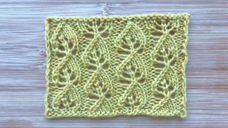 一款别致的歪叶子花,简洁立体,织开衫织围巾都漂亮编织教学视频