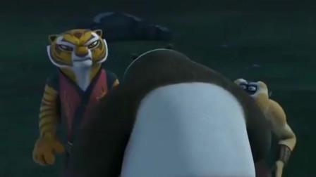 功夫熊猫:神龙大侠刚想给老虎描绘鬼畜模样,连自己都吓到!