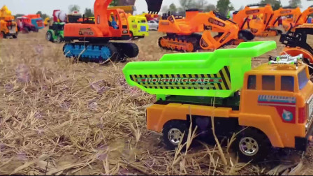 01学习汽车玩具名称建筑汽车玩具儿童汽车玩具儿童快乐玩具儿童电视挖掘机挖土机工作视频