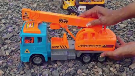02快乐玩具儿童电视拆箱学习车名儿童玩具挖掘机自卸卡车压路机儿童玩具挖掘机挖土机工作视频