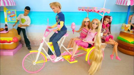 迪斯尼公主和芭比娃娃要出去玩,为什么拉肯过来当车夫呢?