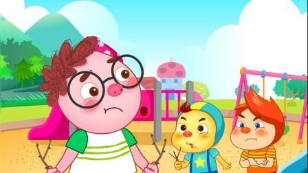 搞笑的艾伦-艾伦是守护天使(上) 和小朋友一起玩耍要友好相处