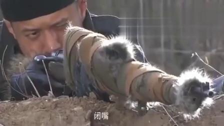 这才是真正的神枪手!1颗子弹摧毁鬼子所有掷弹筒,场面壮观!