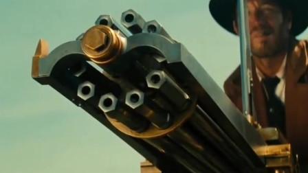 手摇式加特林机枪射击威力强悍,单发步枪完全不够看