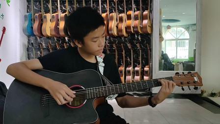 黄宇轩同学学习吉他视频《兰花草》