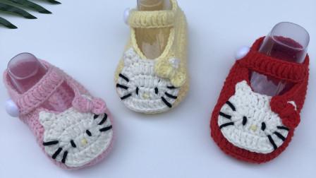 凯蒂猫宝宝鞋编织视频大全