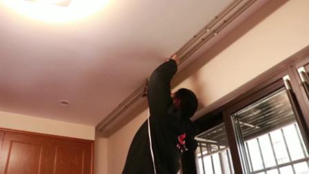 新房装修安装窗帘需要多长时间?看看师傅现场安装就明白了