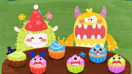 小浩宇带你玩宝宝巴士 奇妙的怪物朋友之大嘴怪制作美味的蛋糕