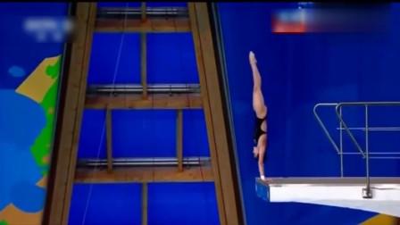 没水花!14岁中国小将逆天跳水,结果裁判回放10遍才看清