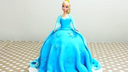 """教你制作活灵活现的""""公主蛋糕"""",一个蓝色一个红色,你喜欢哪个"""