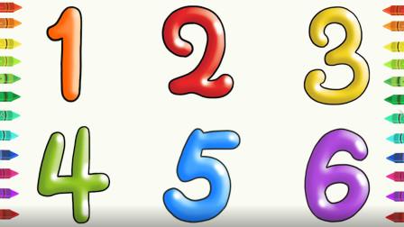 有趣颜色 数字涂色游戏 认识红色 橙色等多种颜色