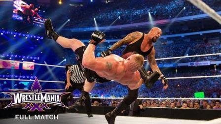 WWE经典之战 摔跤狂热30 送葬者21连胜被布洛克莱斯纳终结 全场