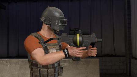吃鸡武器合成:UZI装上2倍镜和垂直握把之后,一开枪就觉得不简单