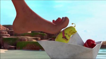 爆笑虫子:黄虫咬沙雕的脚趾被雷劈焦了,不可思议