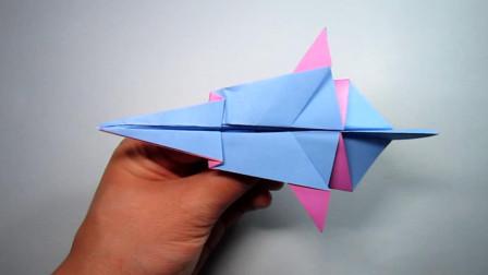 手工折纸飞机,不一样战斗机的折法,简单易学帅气