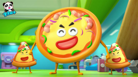 《宝宝巴士美食总动员》汉堡联盟 薯条们的游乐园被小坏蛋披萨抢了