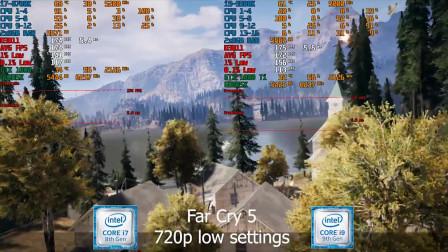 i7-8700K 5.2Ghz对比i9-9900K 5Ghz,两代处理器游戏性能