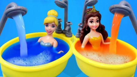 彩泥手工DIY制作冰淇淋 与迪士尼公主一起学习意大利颜色
