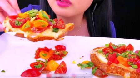 声控吃播:意式香脆吐司烤面包,只听声音就知道有多脆
