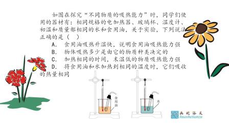 """如图在探究""""不同物质的吸热能力""""时,同学们使用的器材有:相同规格的电加热器、玻璃杯、温度计"""