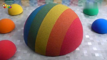 太空沙DIY彩色半球蛋糕造型,果真是创意十足!