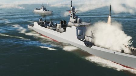 5艘052C驱逐舰对战5艘提康德罗加巡洋舰,结果如何?战争模拟