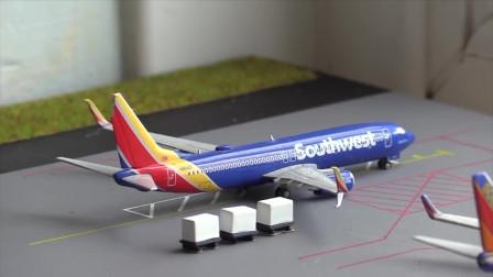 手工制作了一个民航飞机场