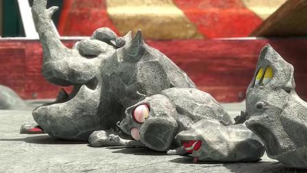 爆笑虫子:四只虫子被浇上水泥,这一段看一次笑一次,百看不厌!-