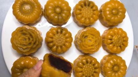 豆沙馅南瓜月饼做法,一款健康又美味的月饼,不用烤箱,简单一蒸