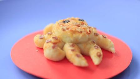 巴掌大的章鱼小面包,惟妙惟肖,看着让人直流口水