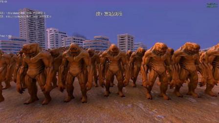 史诗战争模拟器:一千个狼人这么厉害一下子把一千个黄皮怪淘汰了