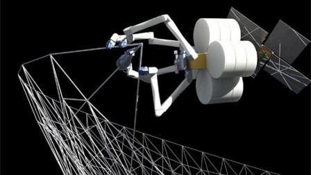 太空如何盖房子,机器像个大蜘蛛,以后可以在太空买房了