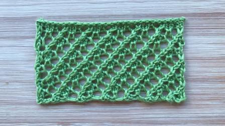 镂空斜纹花样的视频教程,精致通透,简单好织,织披肩很漂亮手工编织款式