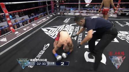 不愧是中国Glory第一人,泰拳小子张成龙完爆俄罗斯强敌,ko获胜
