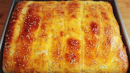 面包最简单的做法,不揉面,不揉膜,柔软拉丝比买的还好吃