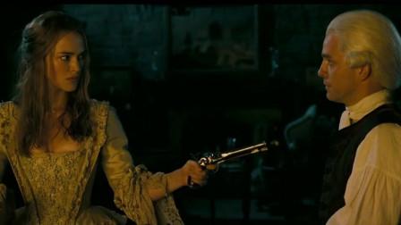 加勒比海盗2:最纲的女逃犯,伊丽莎白直接闯入卡特勒房内!