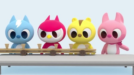 迷你特工队宝宝早教动画:可爱萌宝吃冰激凌学颜色,好棒!