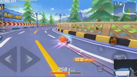 跑跑卡丁车:新车的优点,氮气时间长,转向很好控制!