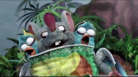 爆笑虫子:沙雕抓不到鱼,还扔石头把自己砸晕