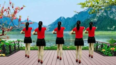 情歌广场舞《十指紧扣心相守》好听好看又好学!