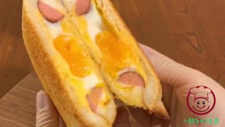 爆浆芝士三明治这样做 方便携带 小朋友的营养早餐