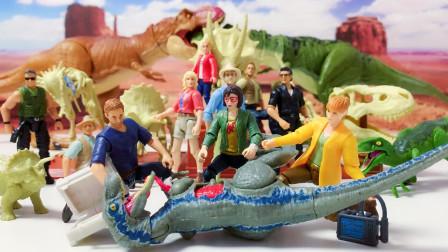 和恐龙兽医一起拯救迅猛龙布鲁侏罗纪世界公园霸王龙暴虐龙