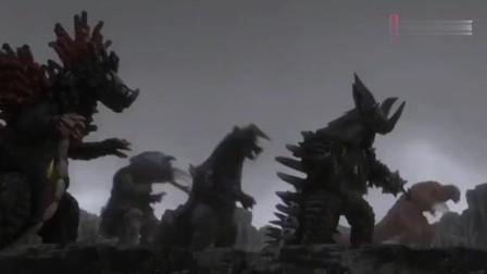 赛迦奥特曼和奥特曼兄弟合力奋战粉碎究极怪兽